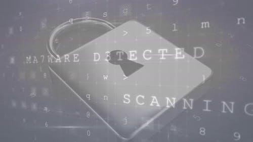 Animation zu Cyberkriminalität und Online-Sicherheit 4k