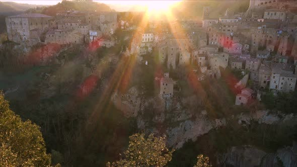 Thumbnail for View At The Old  Famous Tuff City Sorano