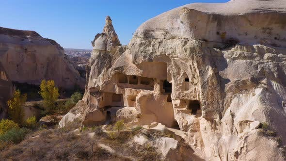 View of an Ancient Dwellings in the Rock