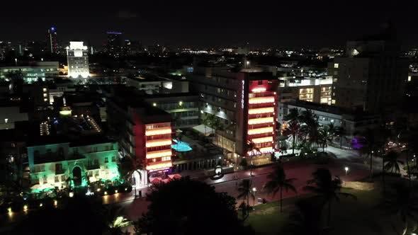 Aerial Miami Beach Hotels