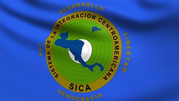 Central American Integration System Flag 4K