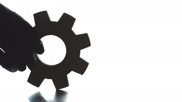 ENGINEERING Black and White Text Pops Up From the Cogwheel