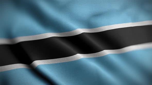 Thumbnail for Botswana Flag Textured Waving Close Up Background HD