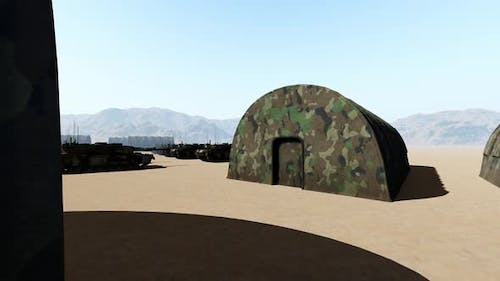 Military Headquarters and Tanks