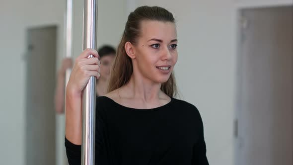Thumbnail for Young Sexy Pole Dance Woman Exercising