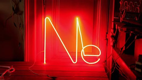 Neon Light in a Dark Room. 4K Version.
