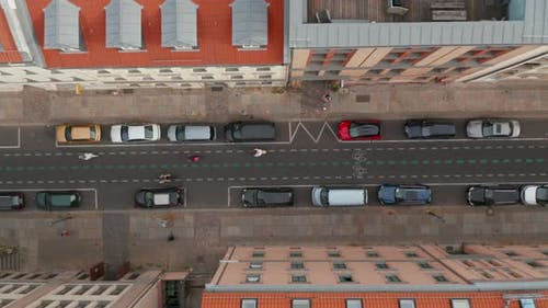 Aerial Birds Eye Overhead Top Down Ascending View Linienstrasse