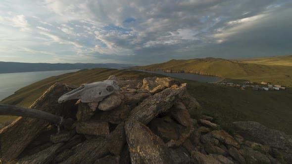 Thumbnail for Lake Baikal. Olkhon Island, Hujir Village, Shamanka Rock. Timelaps