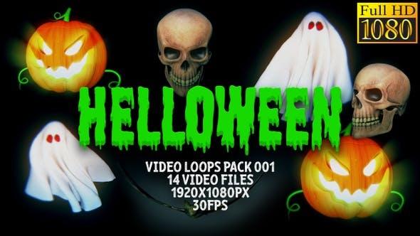 Helloween Video Loops Pack 001