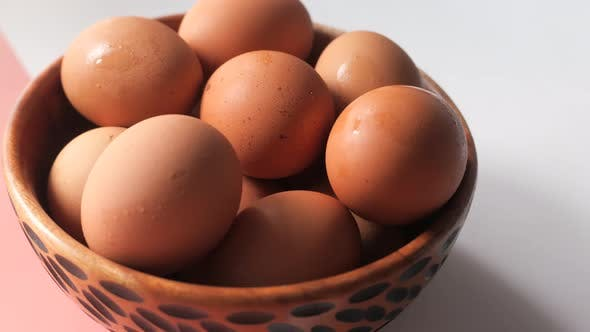 Thumbnail for Close Up of Eggs in a Bowl