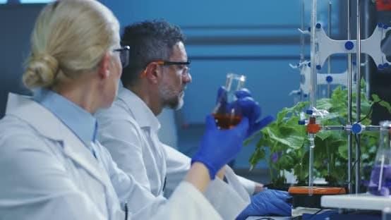 Thumbnail for Scientists Examining Liquid