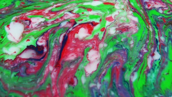 Thumbnail for Colorful Slow Motion Paint Swirling Background Texture