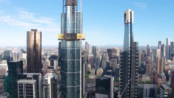 Thumbnail for Melbourne Skyscrapers Drone View