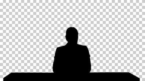 Silhouette  Female presenting , Alpha Channel