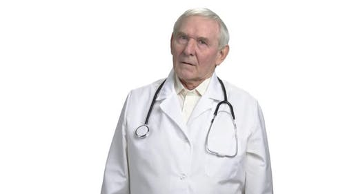 Concerned Old Doctor Worry About You