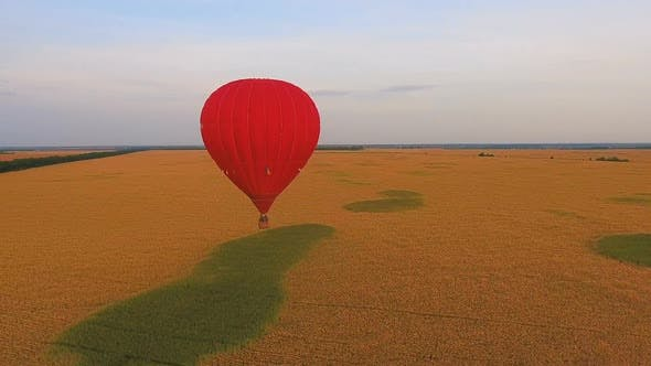 Thumbnail for Air Balloons Flying Over Rural Fields, Contestants of Ballooning Championship
