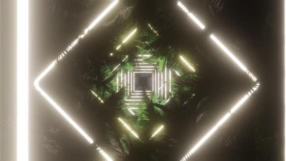 Palm Tree In Light Neon 07 HD