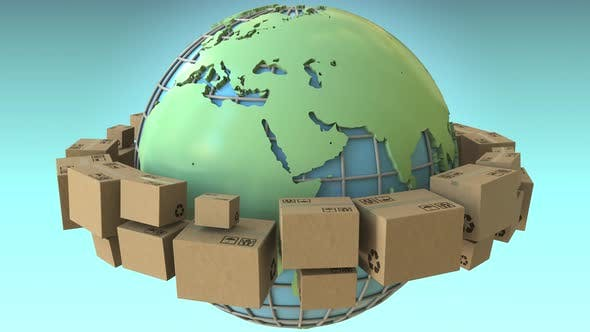 Thumbnail for Many Boxes Rotate Around the World