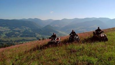 Quad Biking in the Carpathians Ukraine