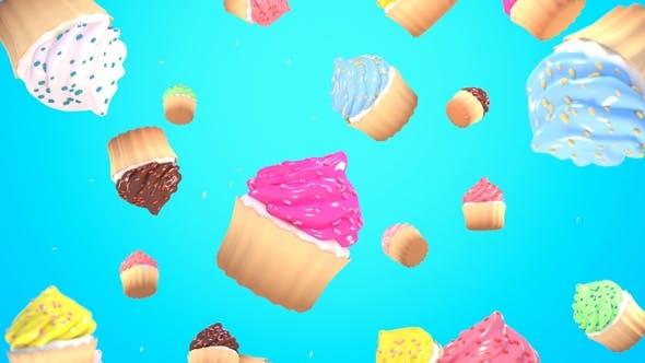 Fallen Cupcakes Hintergrund