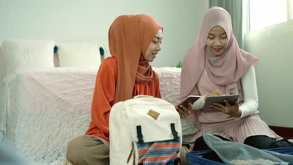 Thumbnail for Asian Muslim Women Packing Suitcase 02