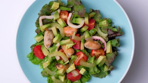 Thumbnail for Salad with Seafood
