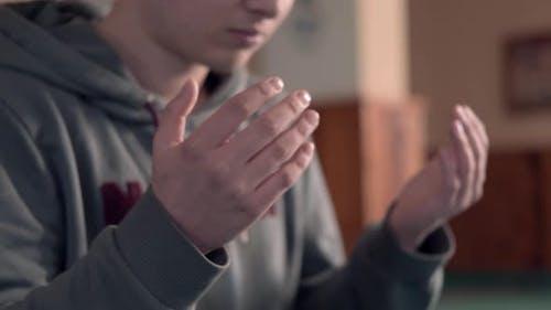 Praying Mosque Ramadan