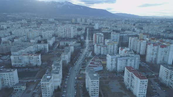 Sofia Urban Area with Streets and Buildings, Aerial View, Bulgaria