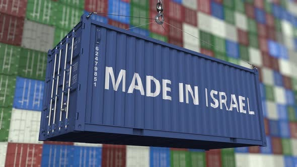 Thumbnail for Loading Container with MADE IN ISRAEL Caption