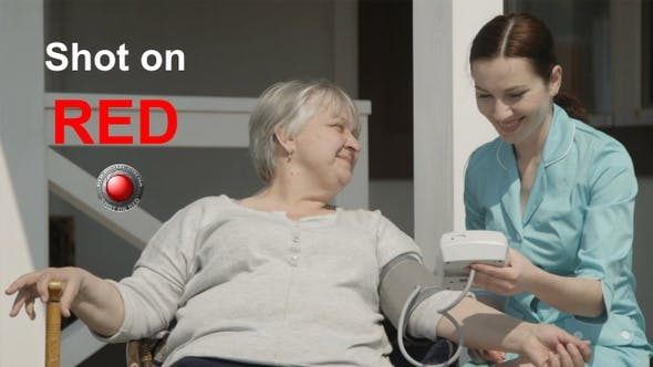 Thumbnail for Nurse is Checking Blood Pressure To Elderly