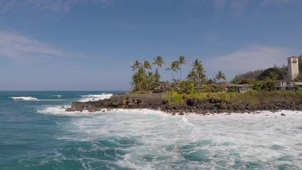 Aerial view of Waimea, Hawaii.
