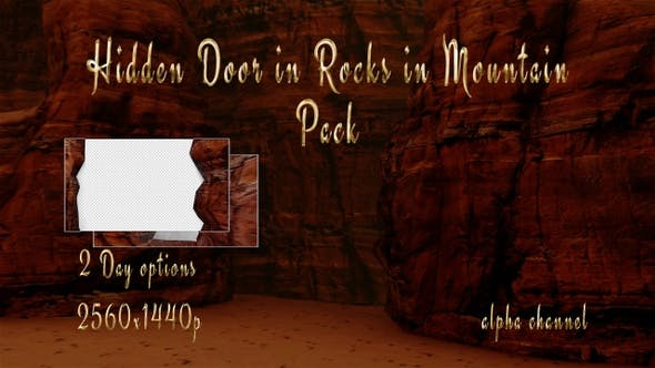 Hiden Door In Rocks In Mountain