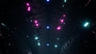 Cyberpunk Shiny Space Tunnel 4K Loop