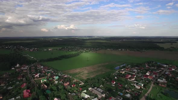 Thumbnail for Flying Over Russian Villages Among Green Fields and Forests