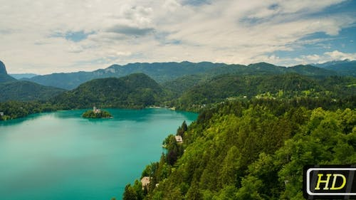 Lake Bled and Mountains