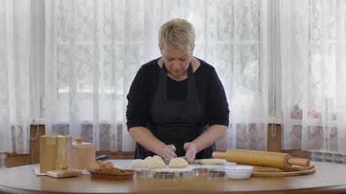 Homemade Pita Bread Empanadas Cooking. Dough Preparation, Homemade Pastries