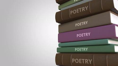 Stapel von Poesiebüchern