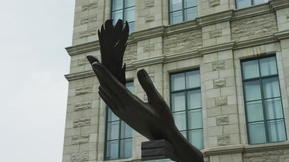 Thumbnail for The Writer's Hand sculpture