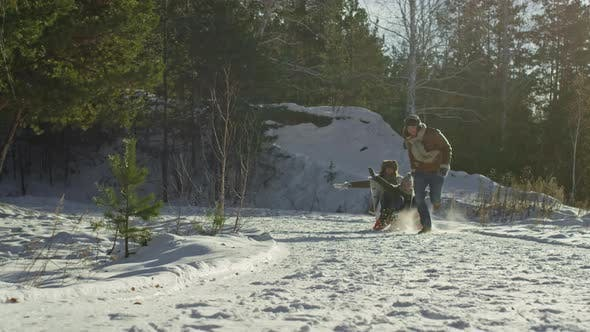 Cover Image for Family Enjoying Winter Activity