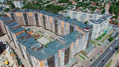 Afordable apartment buildings in the city
