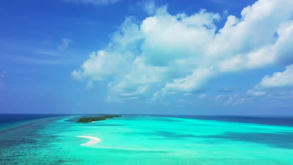 Thumbnail for Luxury above abstract shot of a white paradise beach and aqua turquoise water background in high res