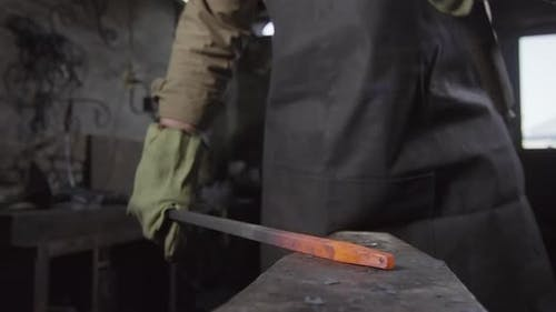 Forging of Iron in Smithy