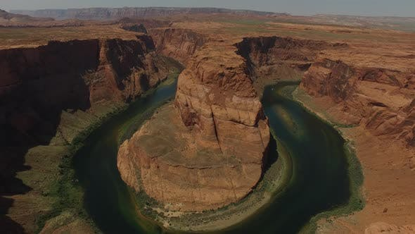 Thumbnail for Aerial view of Grand Canyon Horseshoe Bend and Colorado River Arizona, United States
