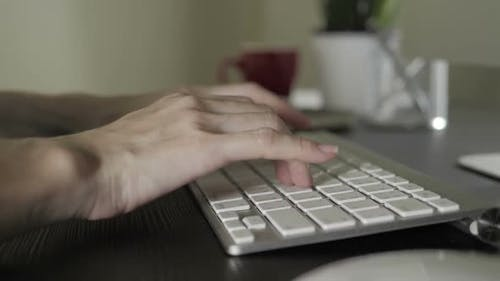 Typing On Keyboard Computer
