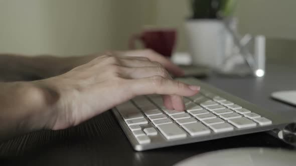 Thumbnail for Typing On Keyboard Computer