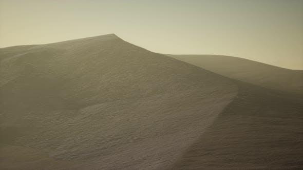 Thumbnail for Aerial View on Big Sand Dunes in Sahara Desert at Sunrise