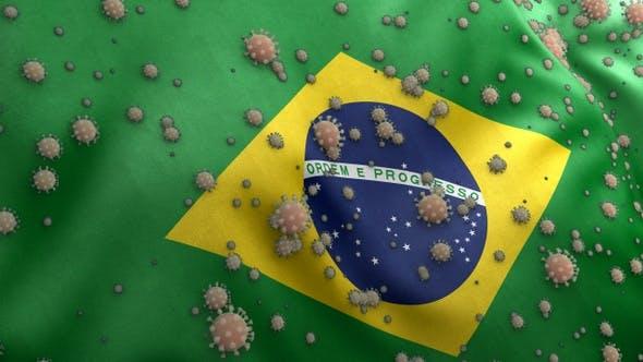 Covid Brazil Flag / Corona Brazil Flag