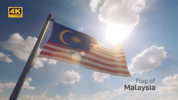 Thumbnail for Malaysia Flag on a Flagpole V2 - 4K