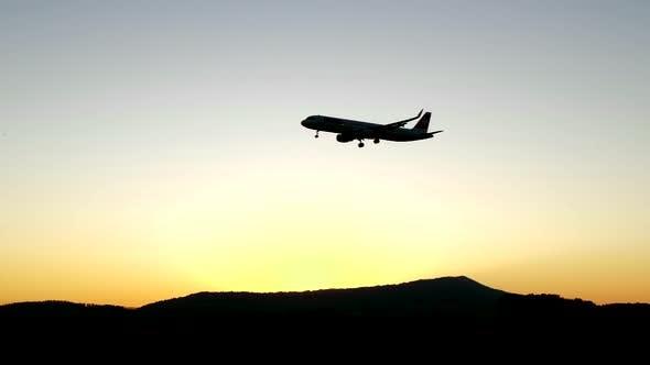 Thumbnail for Modern Passenger Aircraft Jet on Transit Flight