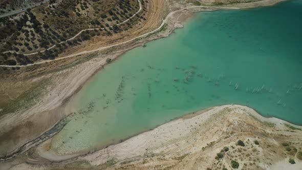 Cover Image for Aerial View Of Drying River Valley